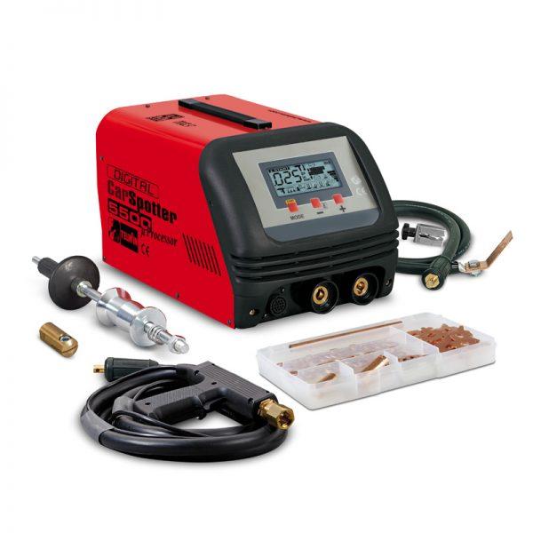 Mikroprocessorstyrd buckeldragare och punktsvets Digital car spotter 5500 (230 V)